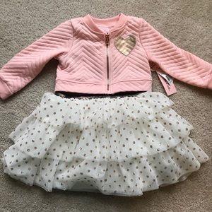 Little lass toddler dress with jacket set